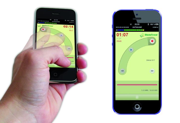 DictaTeam Smartphone-Diktiergerät